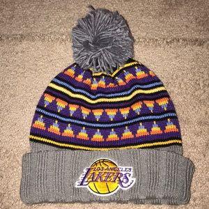Lakers Pom Beanie